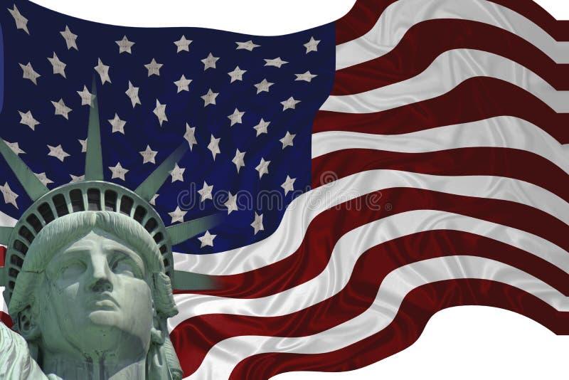 Bandeira da liberdade ilustração do vetor