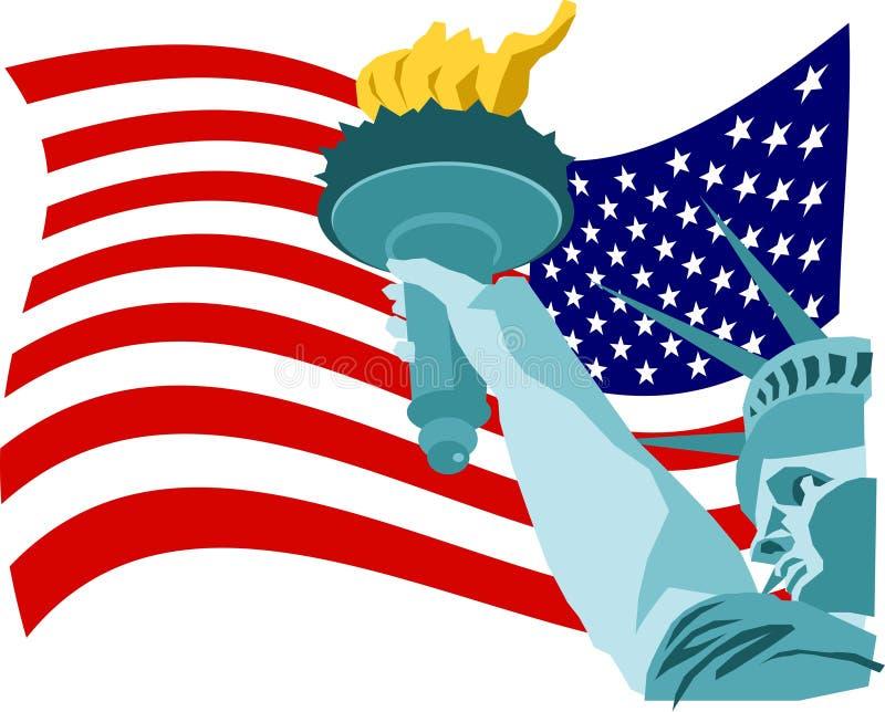 Bandeira da liberdade ilustração royalty free