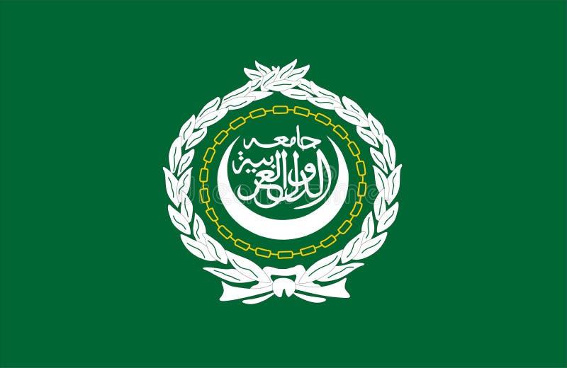 Bandeira da liga árabe ilustração royalty free