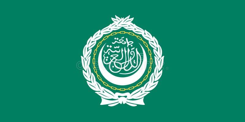 Bandeira da liga árabe ilustração do vetor