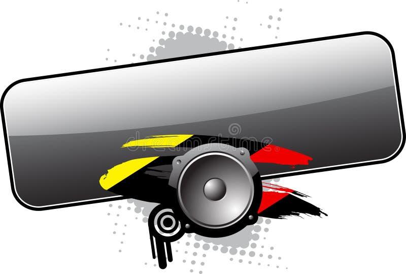 Bandeira da música ilustração do vetor