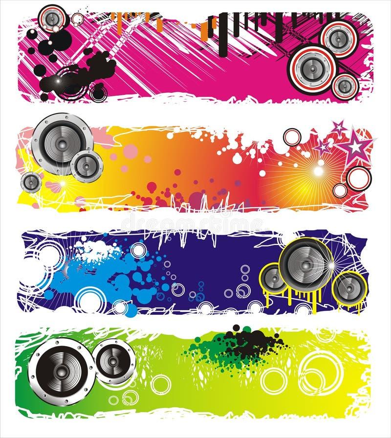 Bandeira da música do estilo de Grunge ilustração do vetor