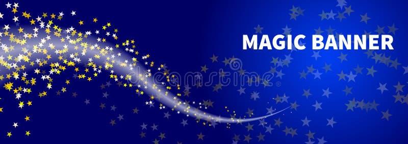 Bandeira da noite do inverno ilustração stock