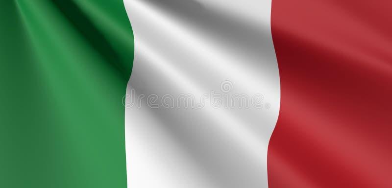 Bandeira da ondulação de italia ilustração do vetor