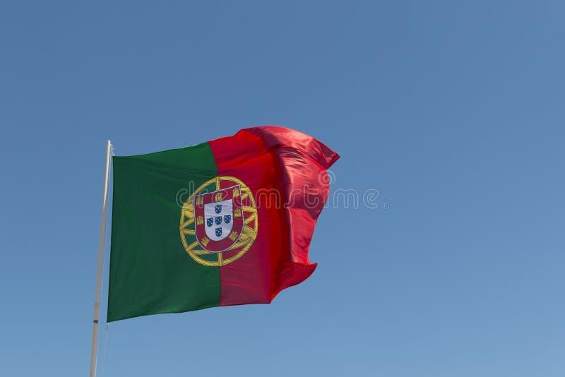Bandeira da ondulação de Portugal fotos de stock royalty free