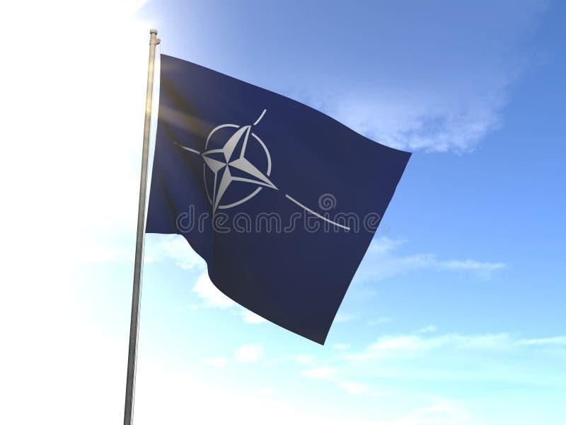 Bandeira da OTAN imagens de stock royalty free