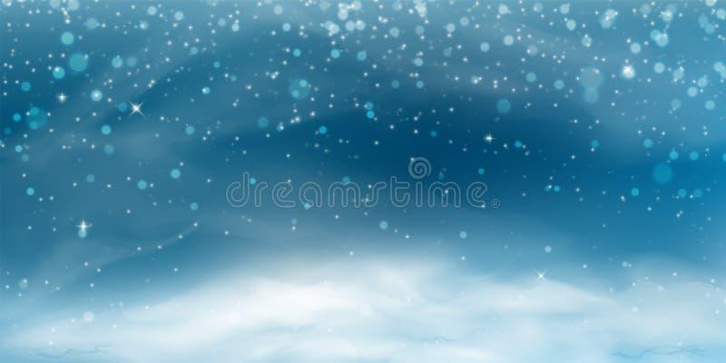 Bandeira da paisagem da neve ilustração stock