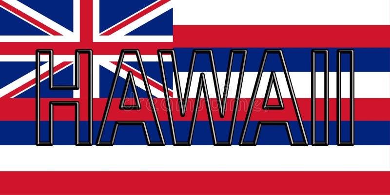 Bandeira da palavra de Havaí ilustração royalty free