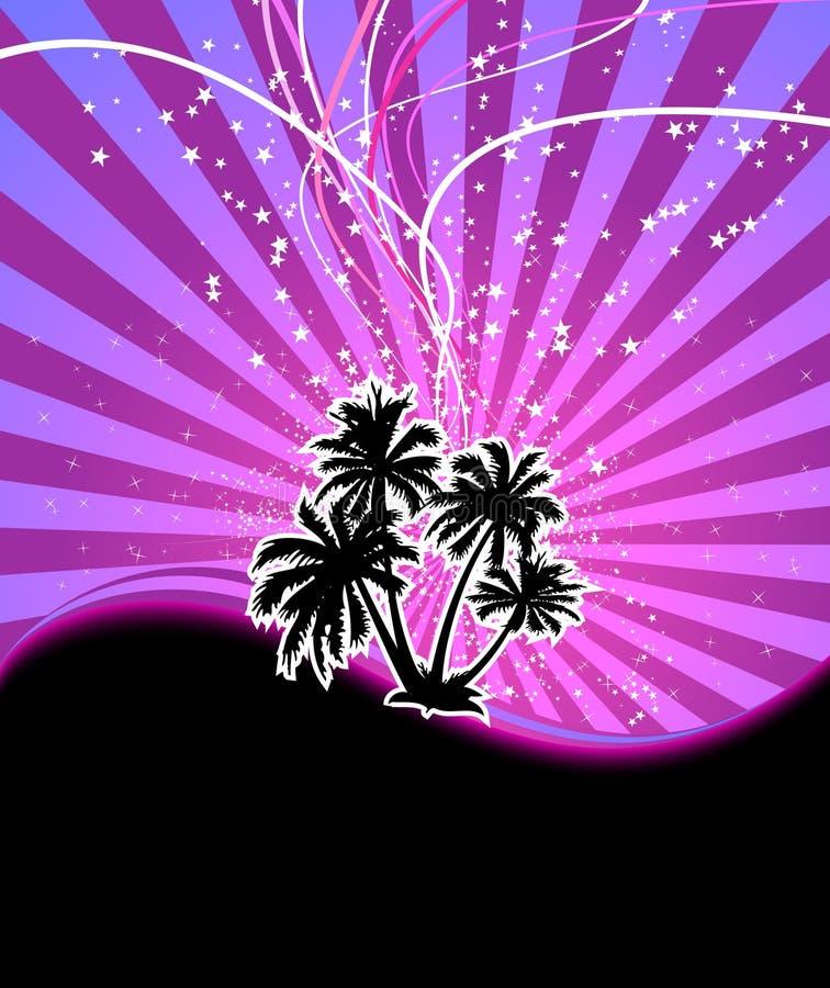 Bandeira da palma da noite do Discotheque ilustração royalty free