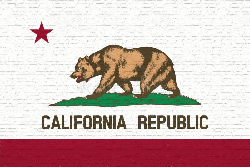 Bandeira da parede de Califórnia ilustração do vetor