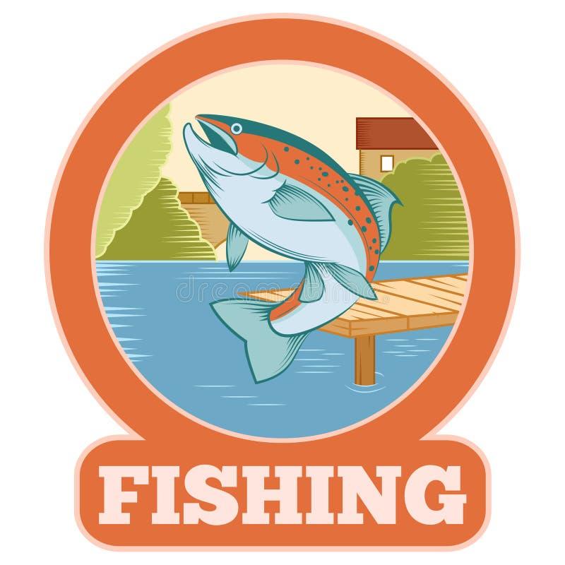 Bandeira da pesca da truta ilustração stock