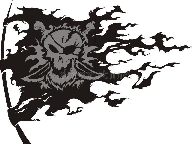 Bandeira da pirataria ilustração royalty free
