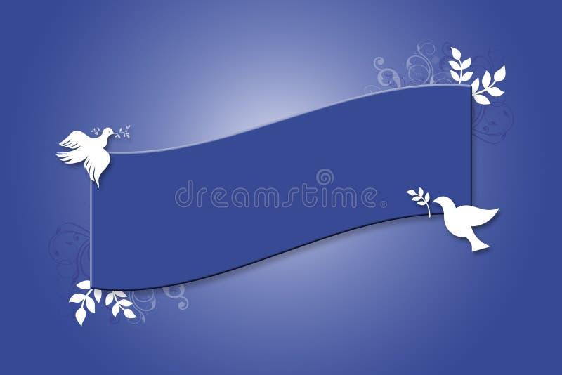 Bandeira da pomba ilustração royalty free