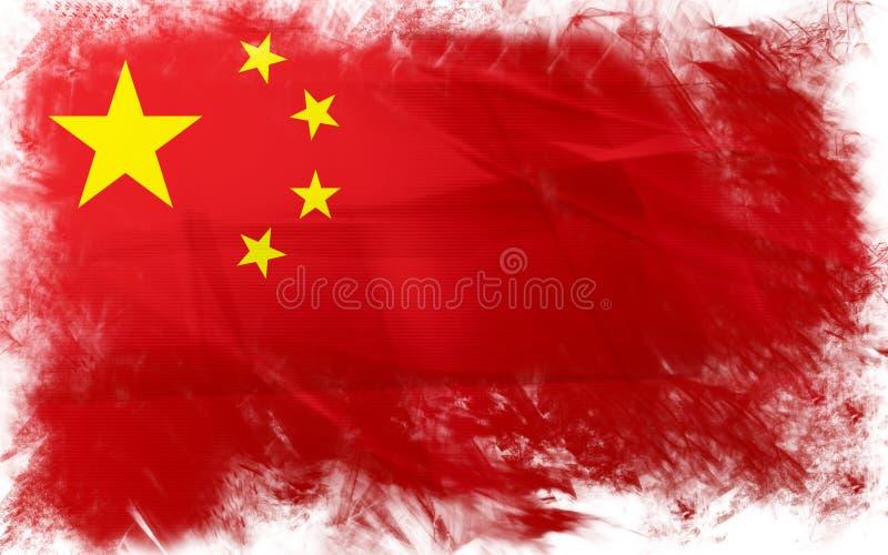 Bandeira da porcelana ilustração stock