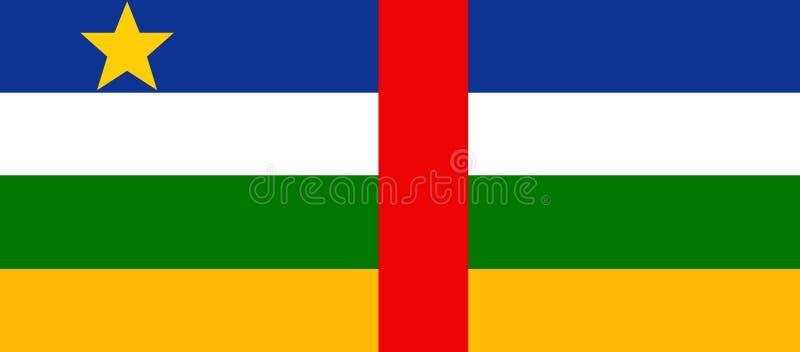 Bandeira da república de África central - projeto da ilustração ilustração do vetor