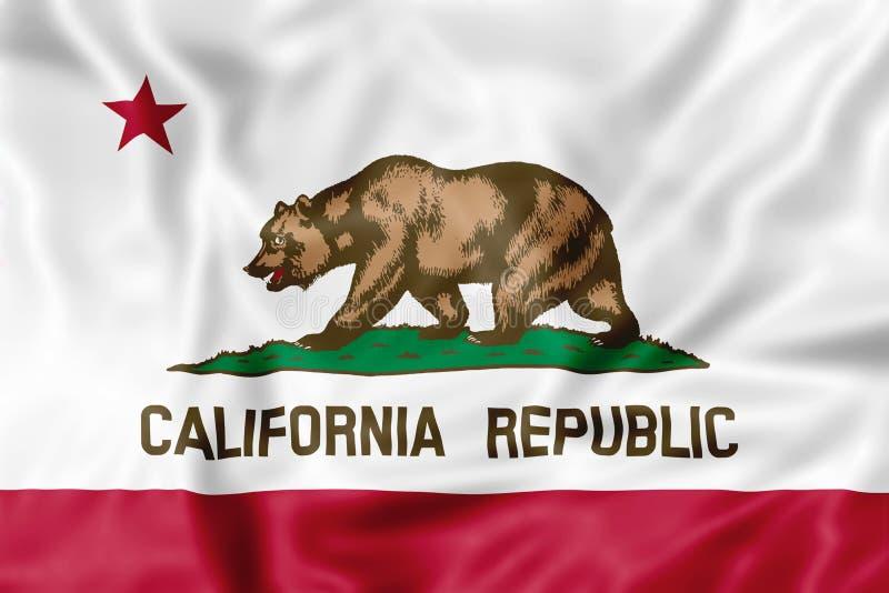 Bandeira da república de Califórnia ilustração do vetor