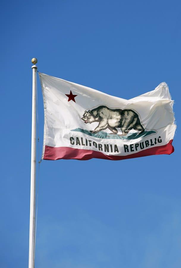 Bandeira da república de Califórnia foto de stock