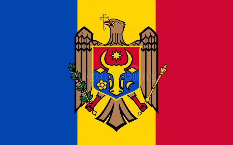 Bandeira da república de Moldova ilustração stock