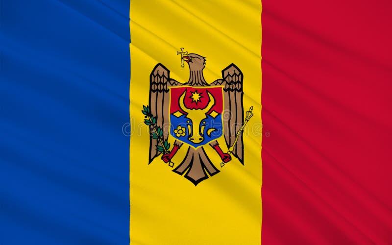 Bandeira da república de Moldova ilustração do vetor