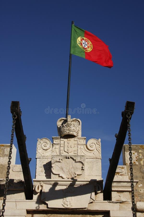 Bandeira da república de Portugal fotografia de stock royalty free