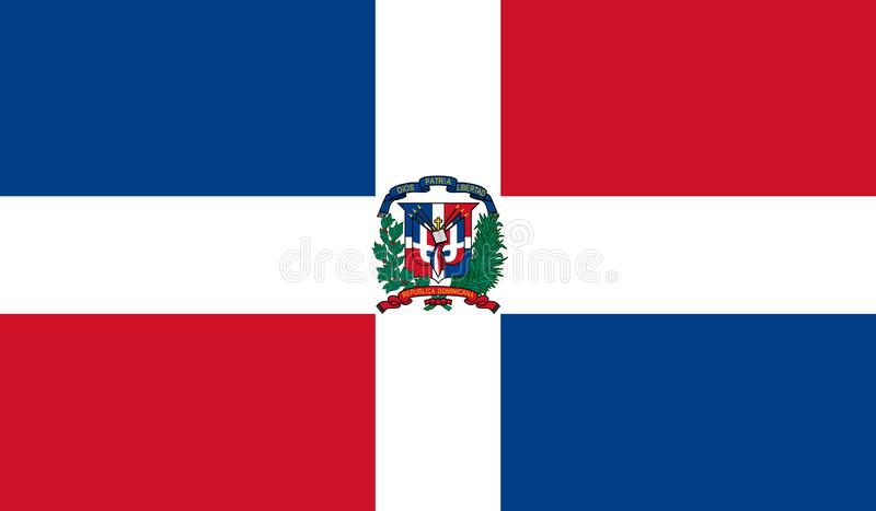 Bandeira da República Dominicana ilustração royalty free