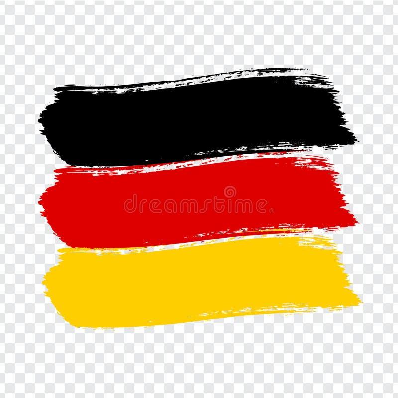 Bandeira da República Federal da Alemanha, fundo do curso da escova Bandeira da República Federal da Alemanha no fundo transparen ilustração stock