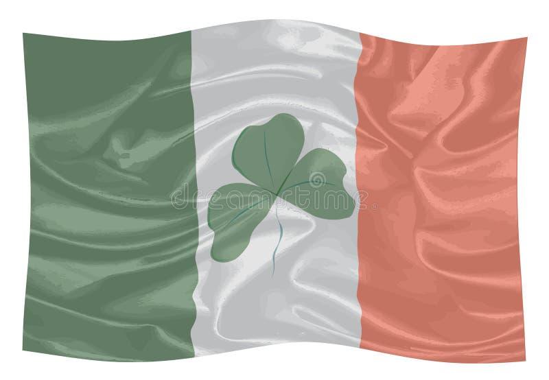 A bandeira da República da Irlanda ilustração royalty free