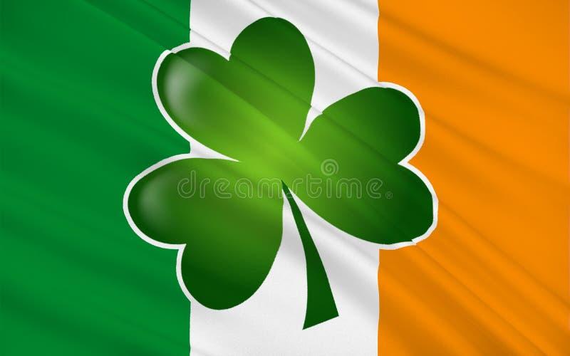 Bandeira da República da Irlanda ilustração royalty free