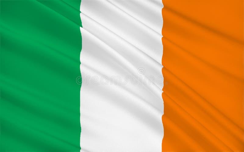 Bandeira da República da Irlanda ilustração do vetor