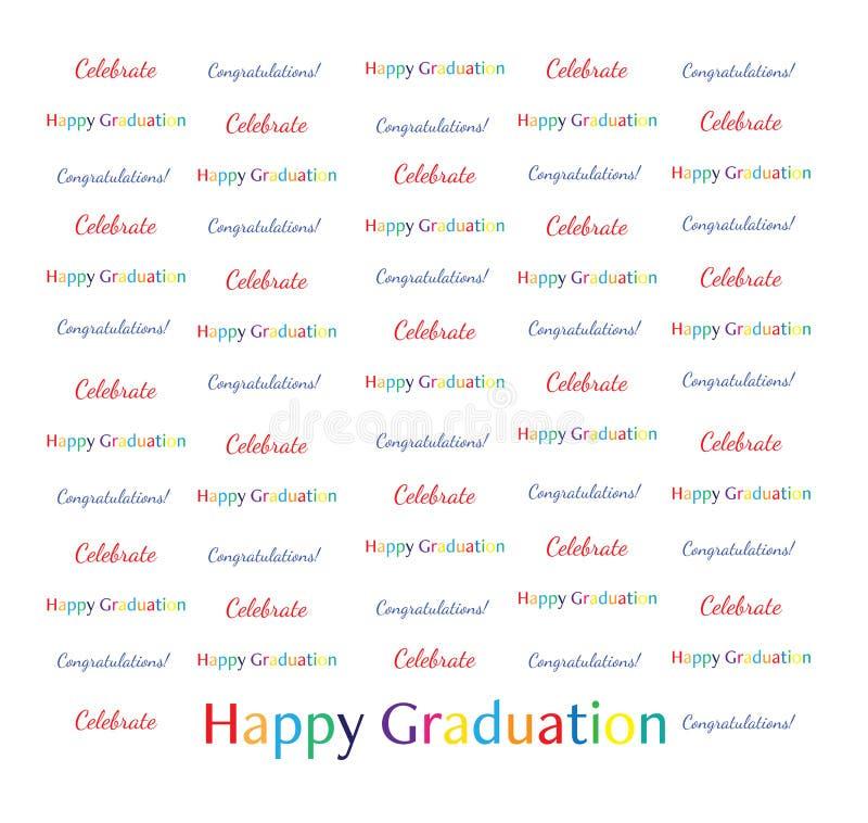 bandeira da repetição da etapa 8x8 - a graduação feliz comemora felicitações fotografia de stock royalty free