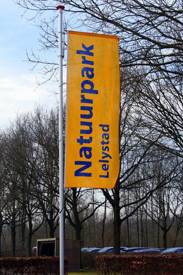 Bandeira da reserva natural Lelystad fotos de stock royalty free