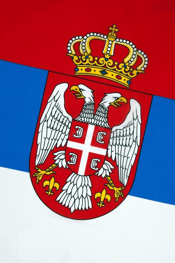 Bandeira da Sérvia foto de stock royalty free