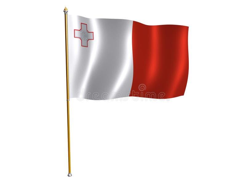 Bandeira da seda de Malta ilustração do vetor