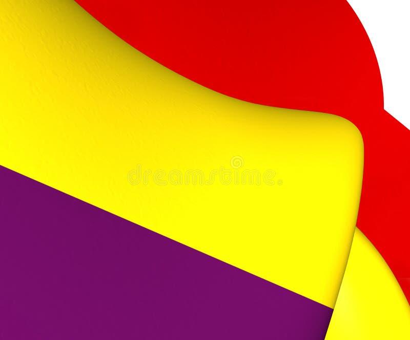 Bandeira da segunda república espanhola ilustração do vetor