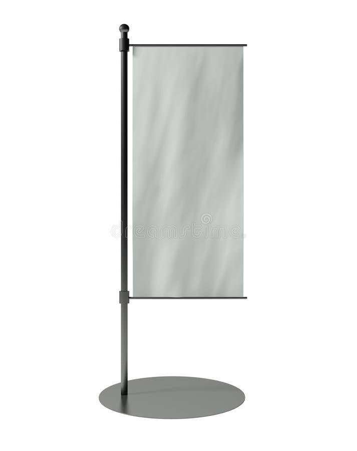 bandeira da tabela 3d em branco isolada no branco ilustração stock