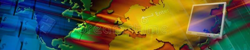 Bandeira da tecnologia. ilustração royalty free