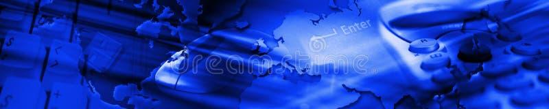 Bandeira da tecnologia ilustração royalty free