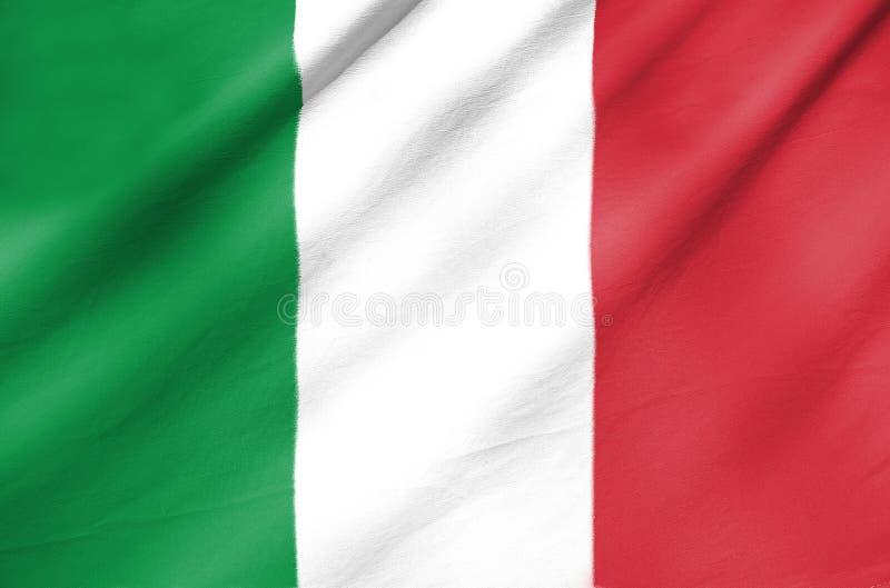 Bandeira da tela de Itália fotos de stock