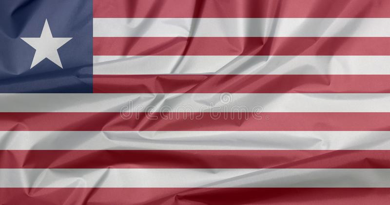 Bandeira da tela de Libéria Vinco do fundo liberiano da bandeira imagens de stock royalty free