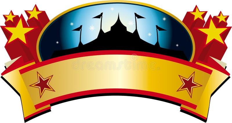 Bandeira da tenda do circus ilustração royalty free
