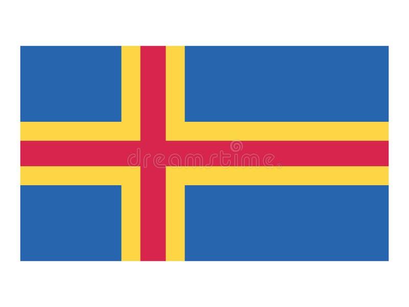 Bandeira da terra de Ã… ilustração stock