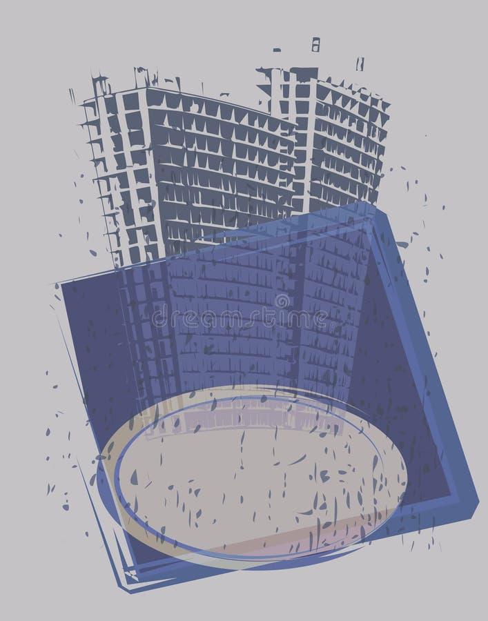 Bandeira da torre ilustração royalty free