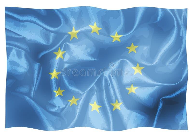 Bandeira da União Europeia ilustração stock
