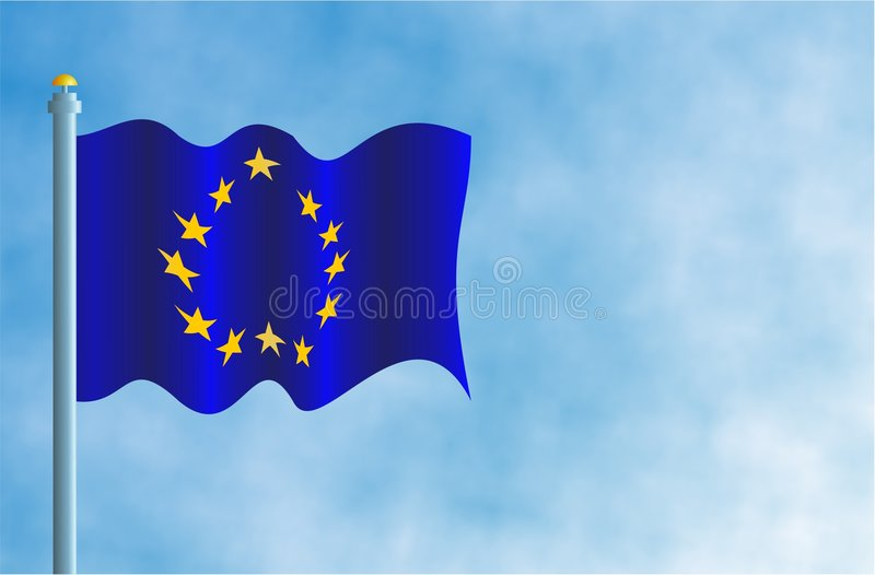 Download Bandeira da União Europeia ilustração stock. Ilustração de europeu - 62088