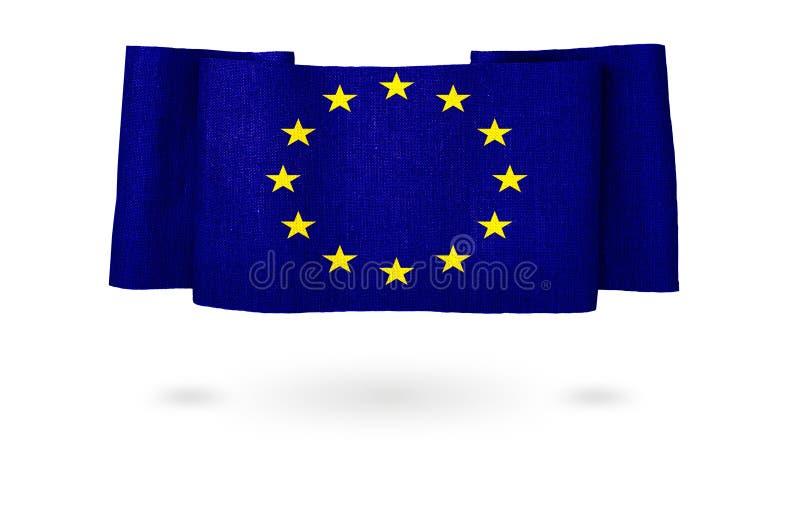 Bandeira da União Europeia Bandeiras dos nacionais do gerencio do país do mundo ilustração do vetor