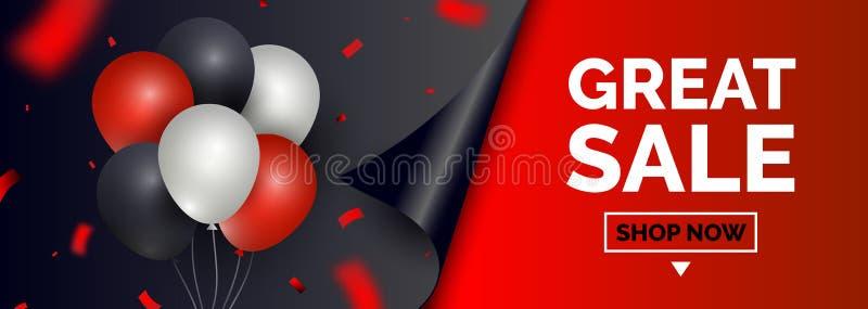 Bandeira da venda de Black Friday, molde para a promoção social do cargo dos meios Fundos quadrados geométricos com espaço do tex ilustração do vetor