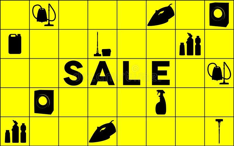 Bandeira da venda do equipamento da limpeza ilustração stock