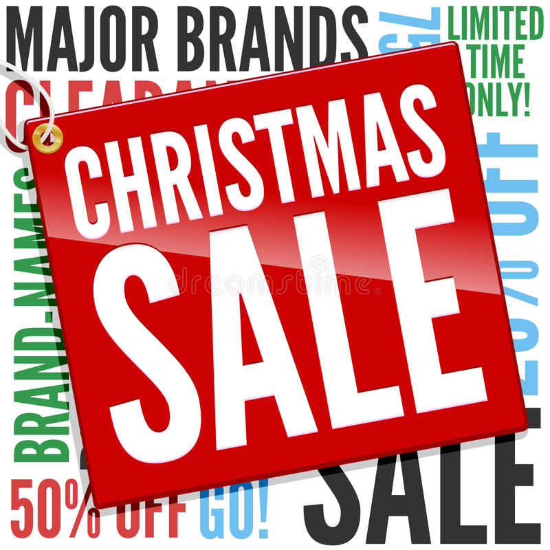Bandeira da venda do Natal ilustração stock