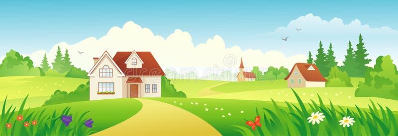 Bandeira da vila do verão ilustração stock