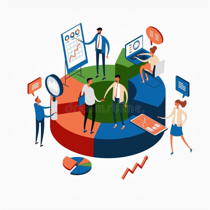 Bandeira da Web das estatísticas de negócio ilustração do vetor